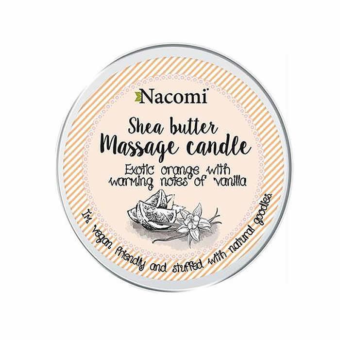 Nacomi massažiküünal sheavõi ja kookosõli baasil, Exotic Orange With Warming Notes Of Vanilla (150 g)