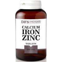 Diet Food Kaltsium + Raud + Tsink 1200 mg närimistabletid (180 tk)