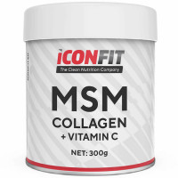 ICONFIT MSM Collagen + Vitamiin C, Jõhvika (300 g)