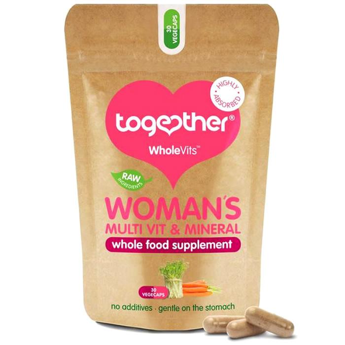 Together Health WholeVits™ Womens Multivit & Mineral kapslid (30 tk)