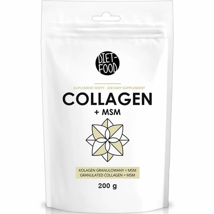 Diet Food Collagen + MSM kollageenipulber (200 g)