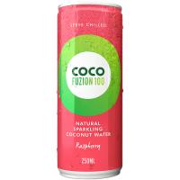 CocoFuzion100 gaseeritud kookosvesi, Vaarika (250 ml)