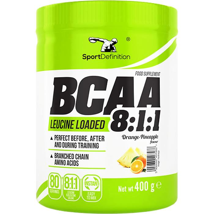 Sport Definition BCAA 8:1:1, Apelsini-ananassi (400 g). Parim enne 30.10.2019