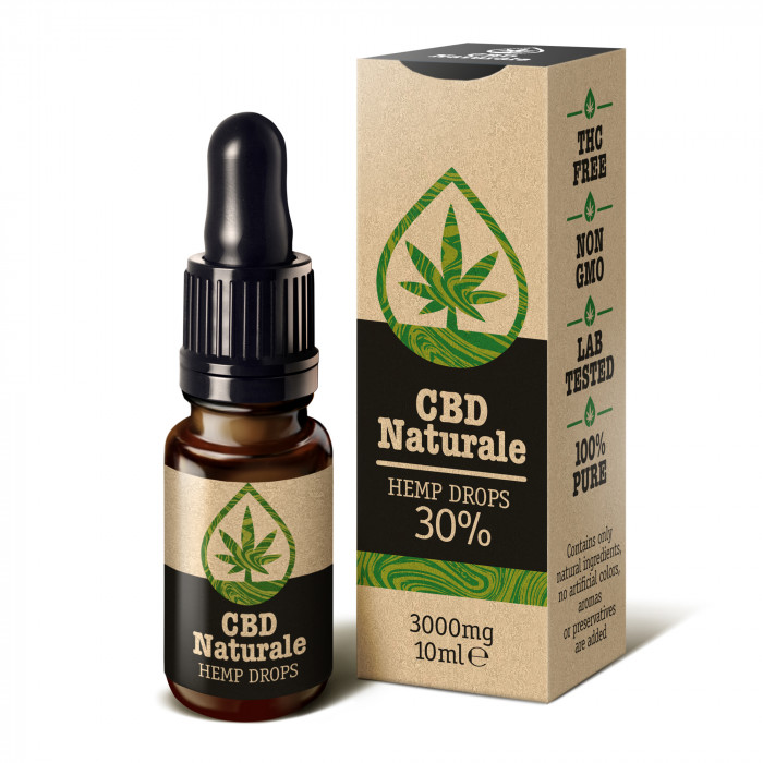 CBD Naturale Hemp Drops kanepiõli ekstrakt 30% (10 ml)