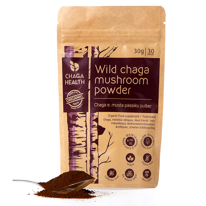 Chaga Health Chaga e. musta pässiku pulber MAHE (30 g)
