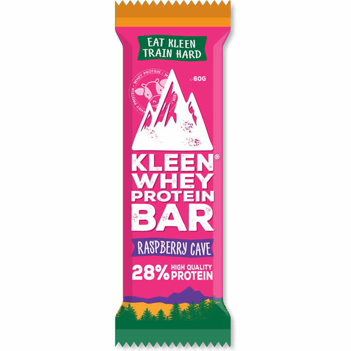 Kleen Whey Protein Bar proteiinibatoon, Raspberry Cave (60 g)