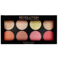 Makeup Revolution London põsepuna- ja särapuudri palett, Goddness Blush (13 g)
