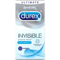 Durex Invisible Extra Thin Sensitive kondoomid (12 tk)