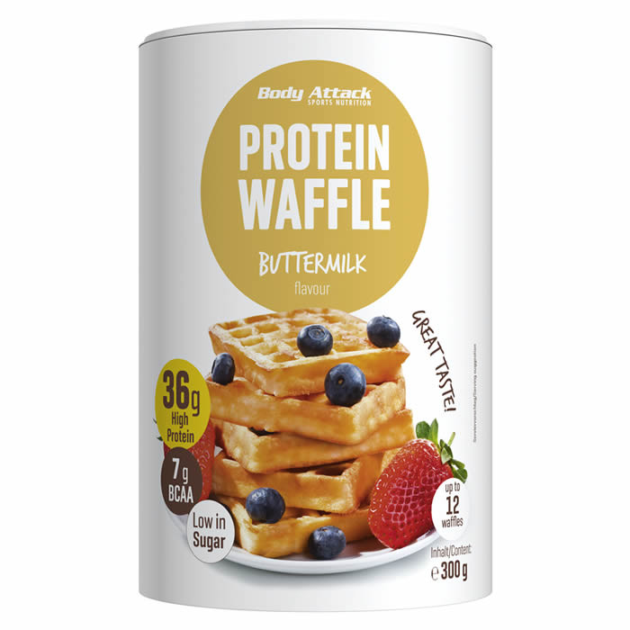Body Attack Protein Waffle vahvlipulber, Buttermilk (300 g)