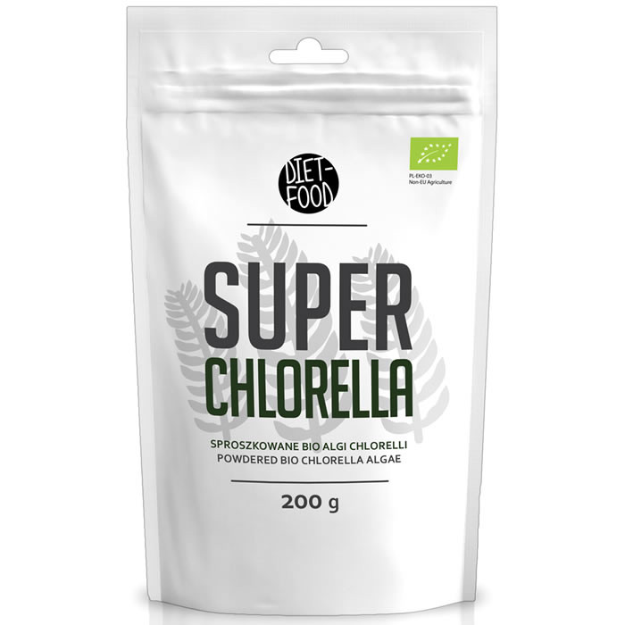 Diet Food Bio Super Chlorella klorella pulber (200 g)