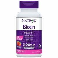 Natrol Biotin 5000 mcg närimistabletid (250 tk)