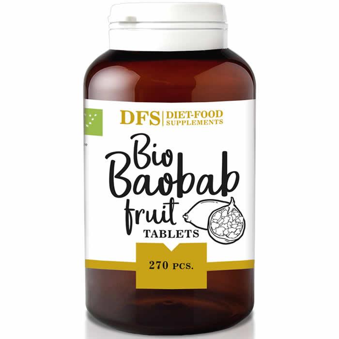 Diet Food Bio Baobab Fruit tabletid (270 tk). Parim enne 29.11.2019