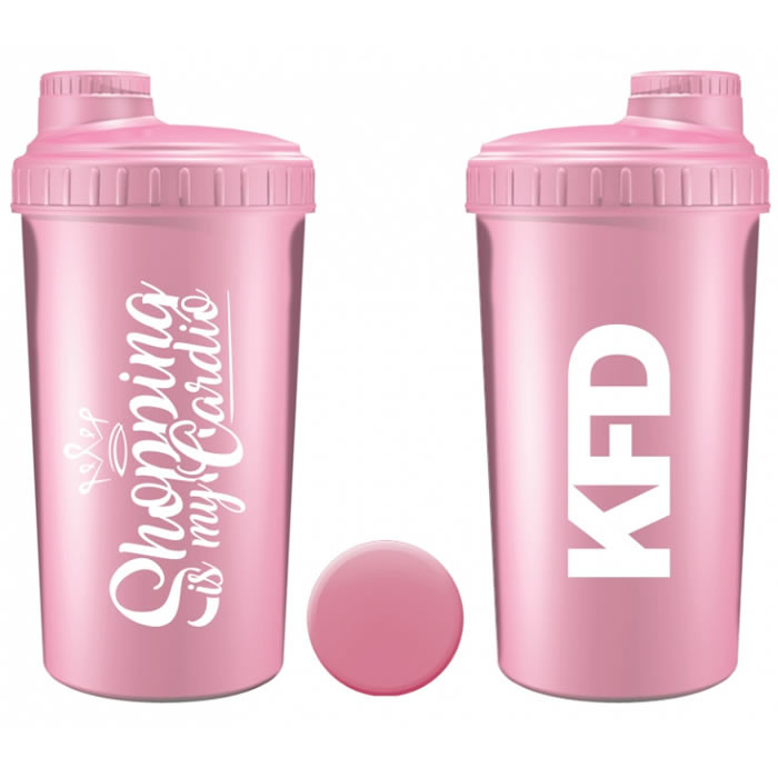 "KFD šeiker ""Shopping is my Cardio"", Roosa (700 ml)"