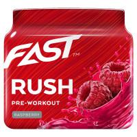 Fast Pre-Workorkout Rush treeningeelne pump-toode, Vaarika (110 g)