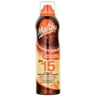 Malibu SPF 15 continuous Dry Oil Spray aerosoolspreiga kuivõli (175 ml)