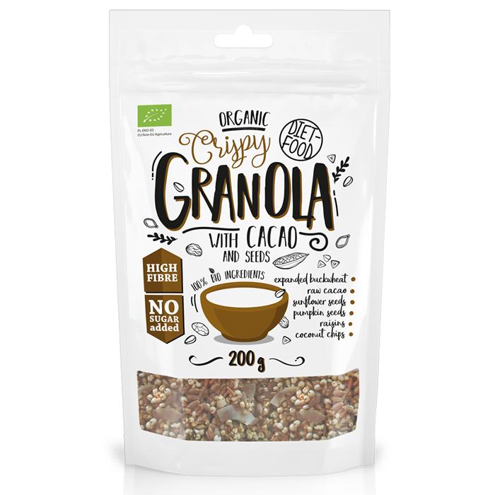 Diet Food Bio Granola with Cacao müslisegu kakaoga (200 g)