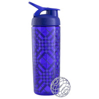 BlenderBottle SportMixer Signature Sleek šeiker/joogipudel, Tartan Plaid Purple (820 ml)