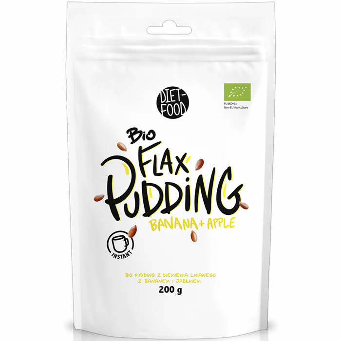 Diet Food Bio Flax Pudding, Banaani-õuna (200 g)