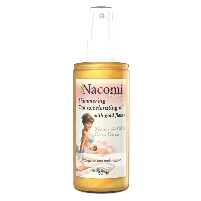 Nacomi Tan Accelerating Oil With Gold Flakes päevitusõli (150 ml) parim enne 30.10.2020