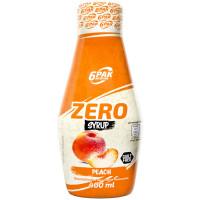 6PAK Syrup Zero, Virsiku (400 ml)