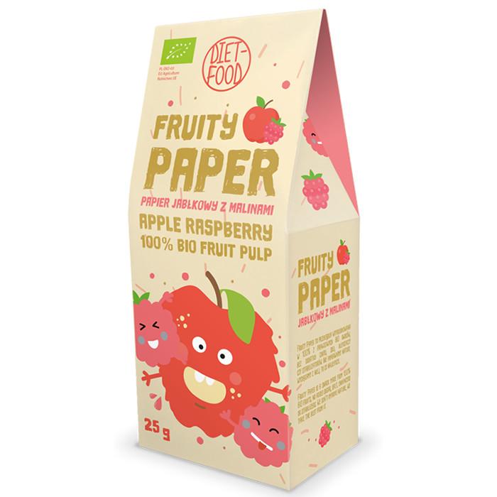 Diet Food Fruity Paper orgaanilised marjakrõpsud, Õuna-vaarika (25 g). Parim enne 10.01.2020