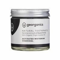 Georganics looduslik remineraliseeriv hambapasta kookosõli baasil, Valgendava aktiivsöega (120 ml)