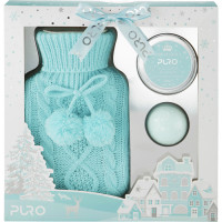 Style & Grace Puro Hot Water Bottle Gift Set, Helesinine