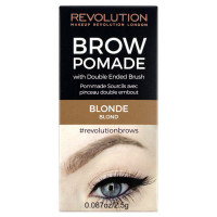 Makeup Revolution London Brow Pomade kreemjas kulmuvärv, Blonde (2.5 g)