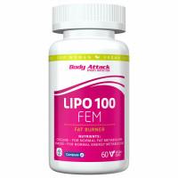 Body Attack LIPO 100 FEM kapslid (60 tk)