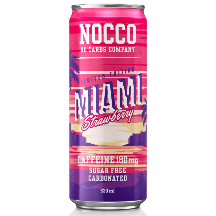 NOCCO BCAA jook, Miami Strawberry (330 ml)