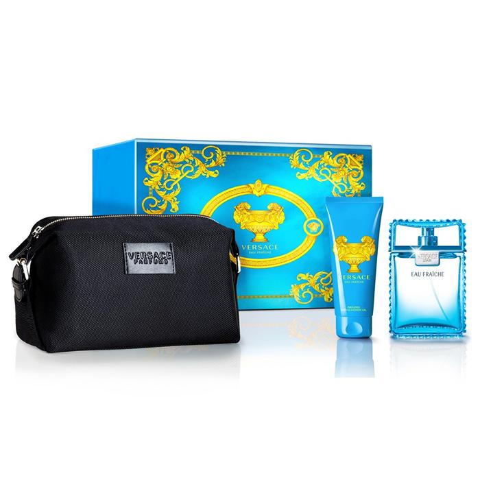 Versace Man Eau Fraiche Set EDT (100 ml) + SGE (100 ml) + bag