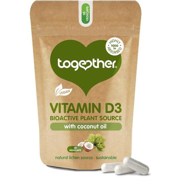 Together Health Vegan Vitamin D3 with Coconut Oil kapslid (30 tk)