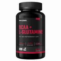 Body Attack BCAA+Glutamine 12000 kapslid (180 tk)