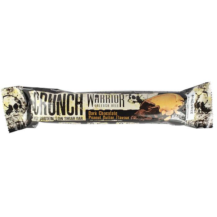 Warrior Crunch Bar valgubatoon, Tumeda šokolaadi-pähkli (64 g)