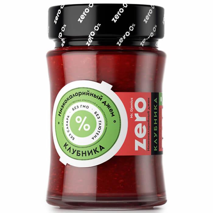 Mr. Djemius ZEROvähese kalorisisaldusega moos, Maasika (270 g)