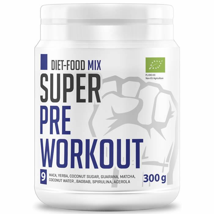 Diet Food Super Bio Pre Workout Mix - taimne treeningeelne toode (300 g)