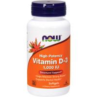 NOW Vitamin D3 1000 IU õlikapslid (180 tk)