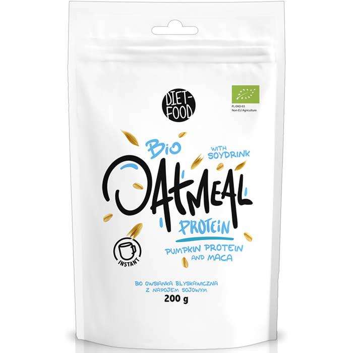 Diet Food Bio Oatmeal Protein kaerahelbed maca ja kõrvitsaproteiiniga (200 g)