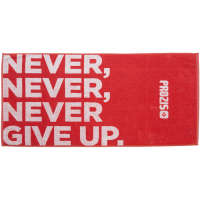 Prozis 'Never, never, never give up.' trennirätik (50 x 100 cm)