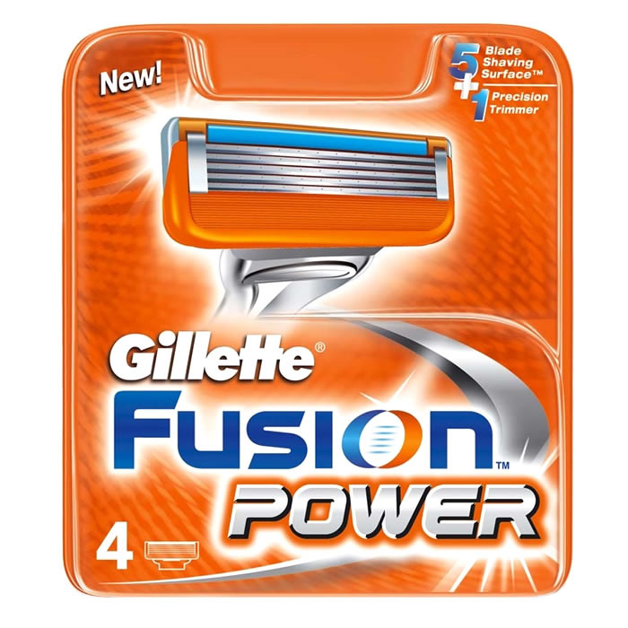 Gillette Fusion Power lisaterad (4 tk)