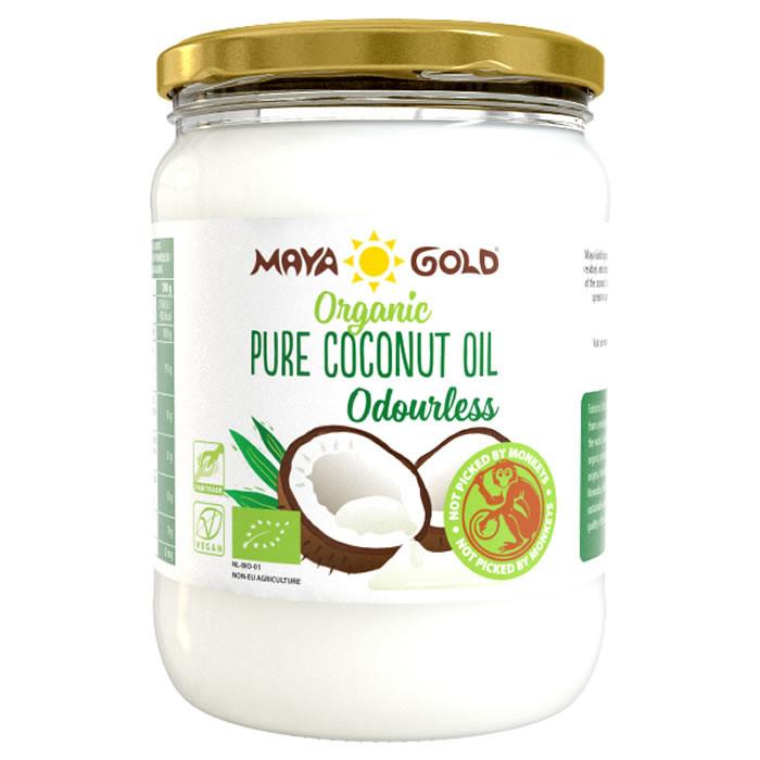 Maya Gold Organic Pure Odourless rafineeritud kookosõli (500 ml)