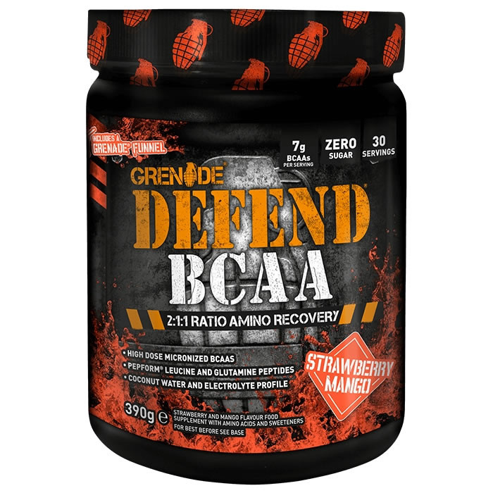 Grenade Defend BCAA, Strawberry Mango (390 g)