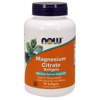 NOW Magnesium Citrate 200mg softgel kapslid (90 tk)