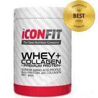 ICONFIT WHEY+ Collagen Premium Protein, Maasika (400 g)