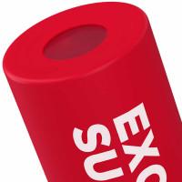 Prozis Mantra silikoonkattega klaaspudel, Punane (550 ml)