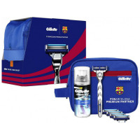 Gillette Mach3 Barcelona komplekt (Raseerija + 5 lisatera + geel (75 ml) + kott)