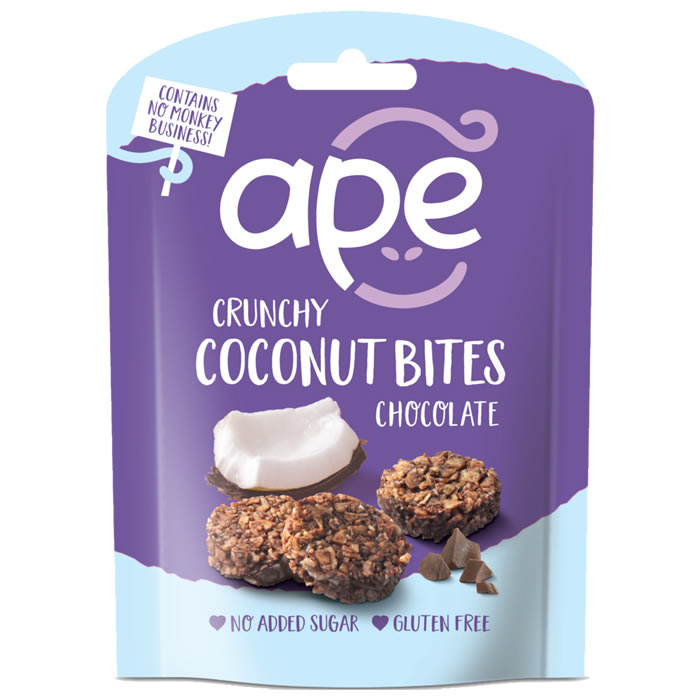 Ape Snacks Crunchy Coconut Bites kookoseampsud, Šokolaadi (26 g)
