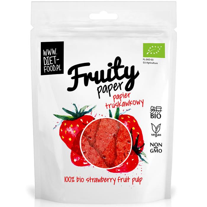 Diet Food Bio Fruity Paper orgaanilised marjakrõpsud, Maasika (25 g)