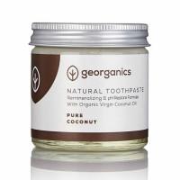 Georganics looduslik remineraliseeriv hambapasta kookosõli baasil, Puhas kookos (60 ml)
