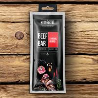 BEEF BAR kuivatatud veiseliha batoon (50 g), Cayenne'i pipra (Honey & Almond)